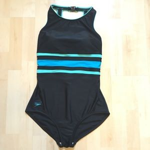Speedo high neck swimsuit size 14
